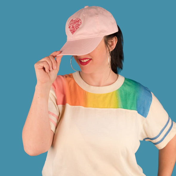 Made With Love Dad Hat Pink Lifestyle