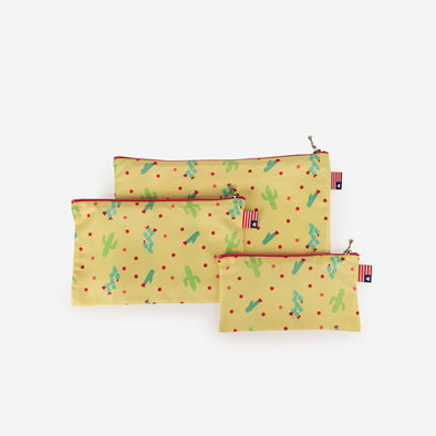 Pouch Set Cactus Flower