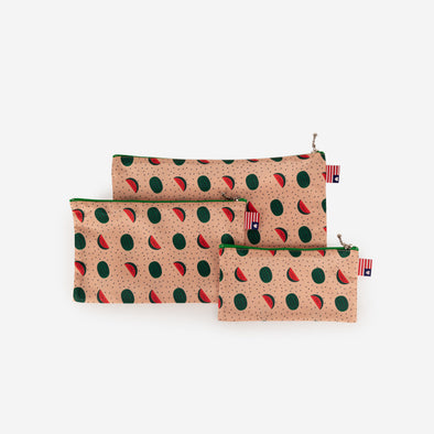 pouch set watermelon