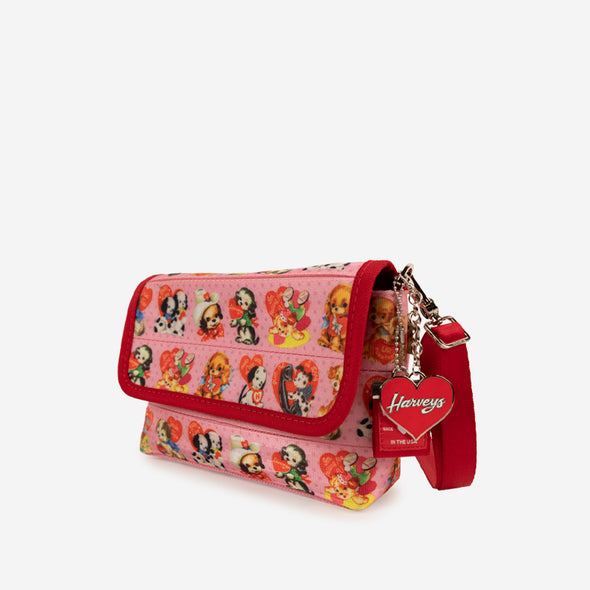 foldover crossbody puppy love side