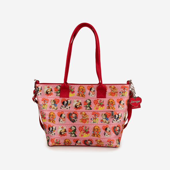 mini streamline tote puppy love
