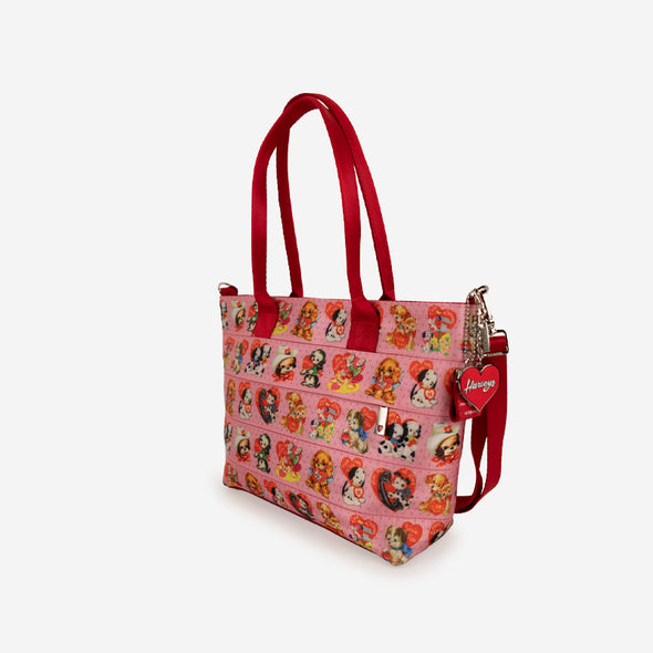 mini streamline tote puppy love side