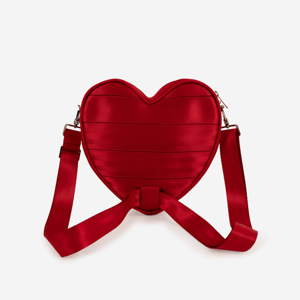 Sweetheart Convertible Crossbody / Scarlet