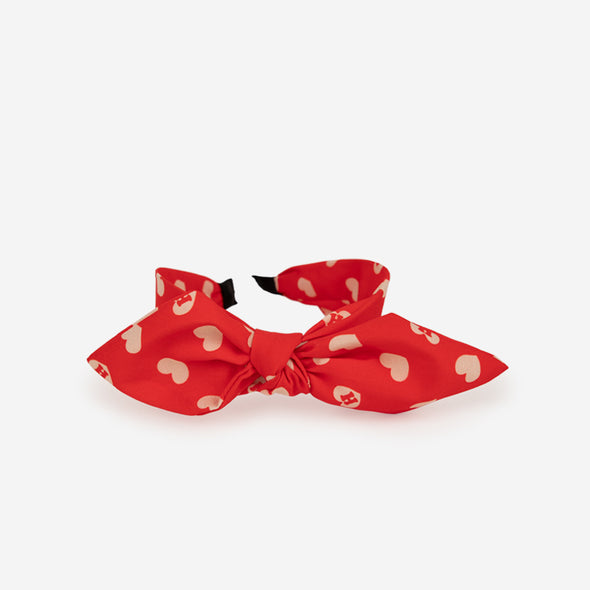 Tie Knot Headband / Red Heart Monogram