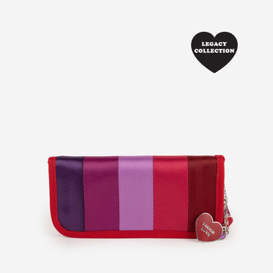 Clutch Wallet Purple Love Front