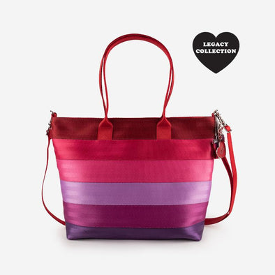 Medium Streamline Tote Purple Love Front