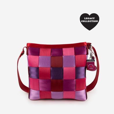 Mini Messenger Purple Love Front