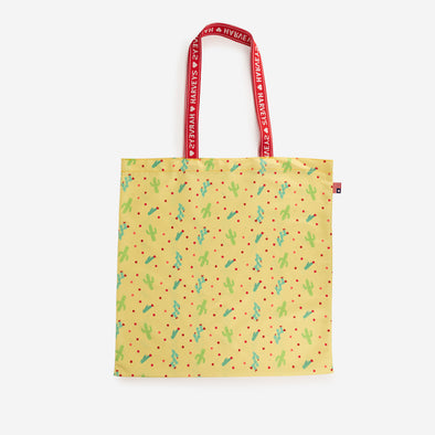 shopper tote cactus flower