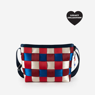 Messenger Spangled Red White Blue Seatbelt bag