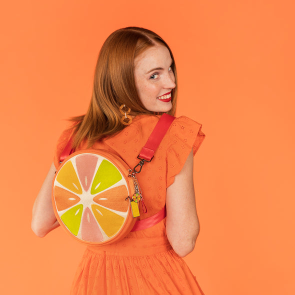 Convertible Crossbody Orange Slice Lifestyle