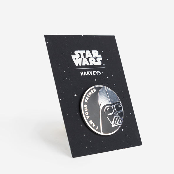 star wars darth vader I am your father lapel pin side view