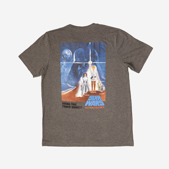Crew Neck / Star Wars Vintage Action Figures Back