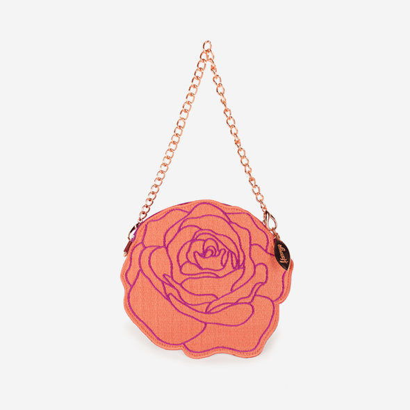 stop and smell the roses coin purse back