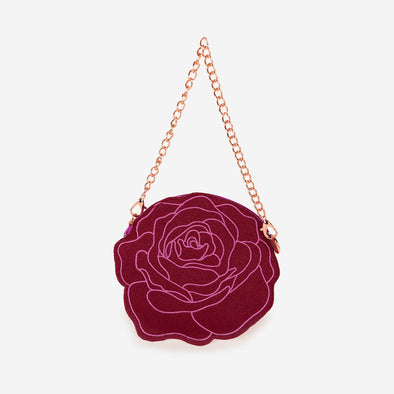 stop and smell the roses coin purse front