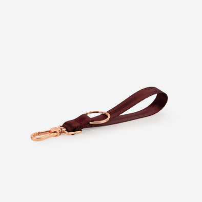 Black cherry rose gold keychain