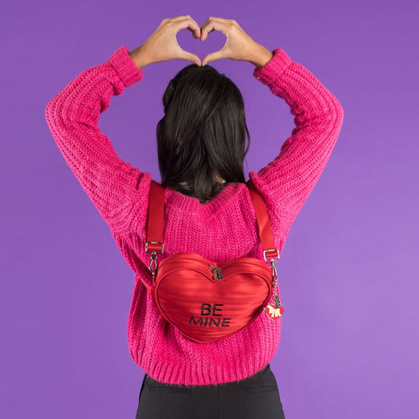 Crossbody Backpack Be Mine Red Heart