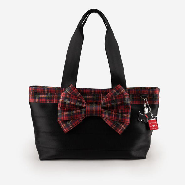 Carriage Bow Tote Tartan Front