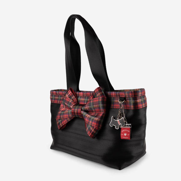 Carriage Bow Tote Tartan Side