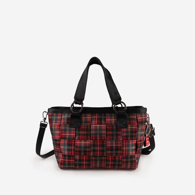 Carriage Medium Tote Tartan Front