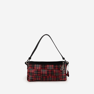 Carriage Ring Baguette Tartan Front