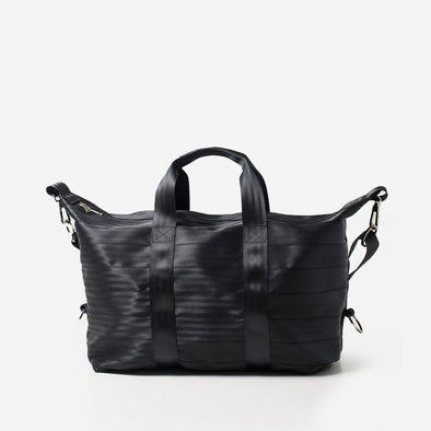 Weekender Black Seatbelt Bag Travel Duffle