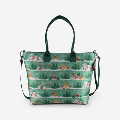 Medium Streamline Tote Disney Winter Wonderland Front