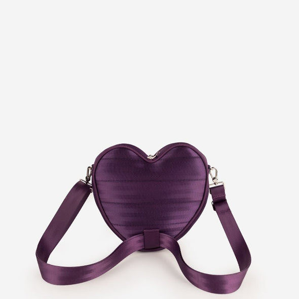 Crossbody Backpack Purple Heart Seatbelt bag