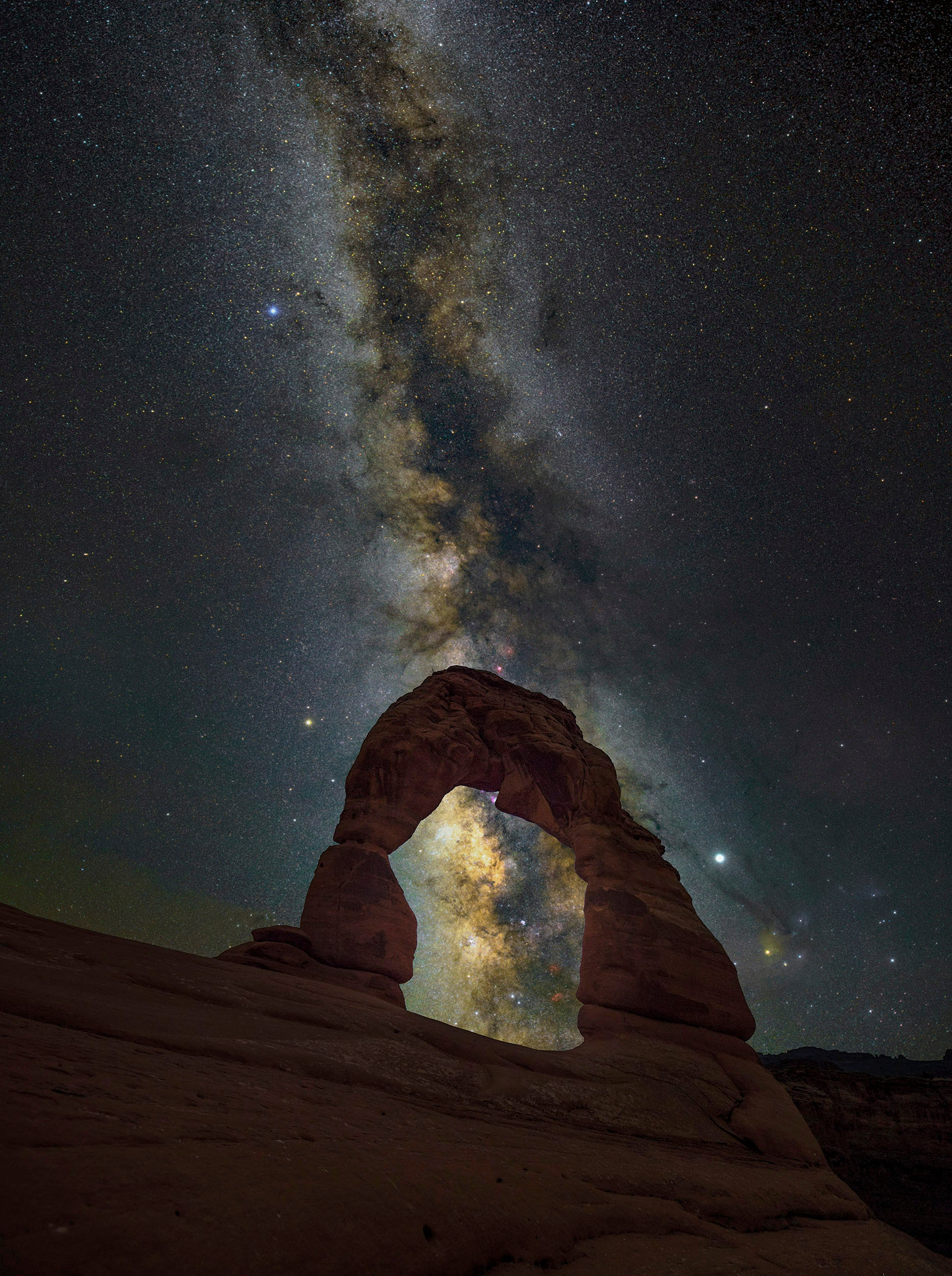 Delicate Arch Window Milky Way Print (Arches National Park, Moab, Utah Milky Way)
