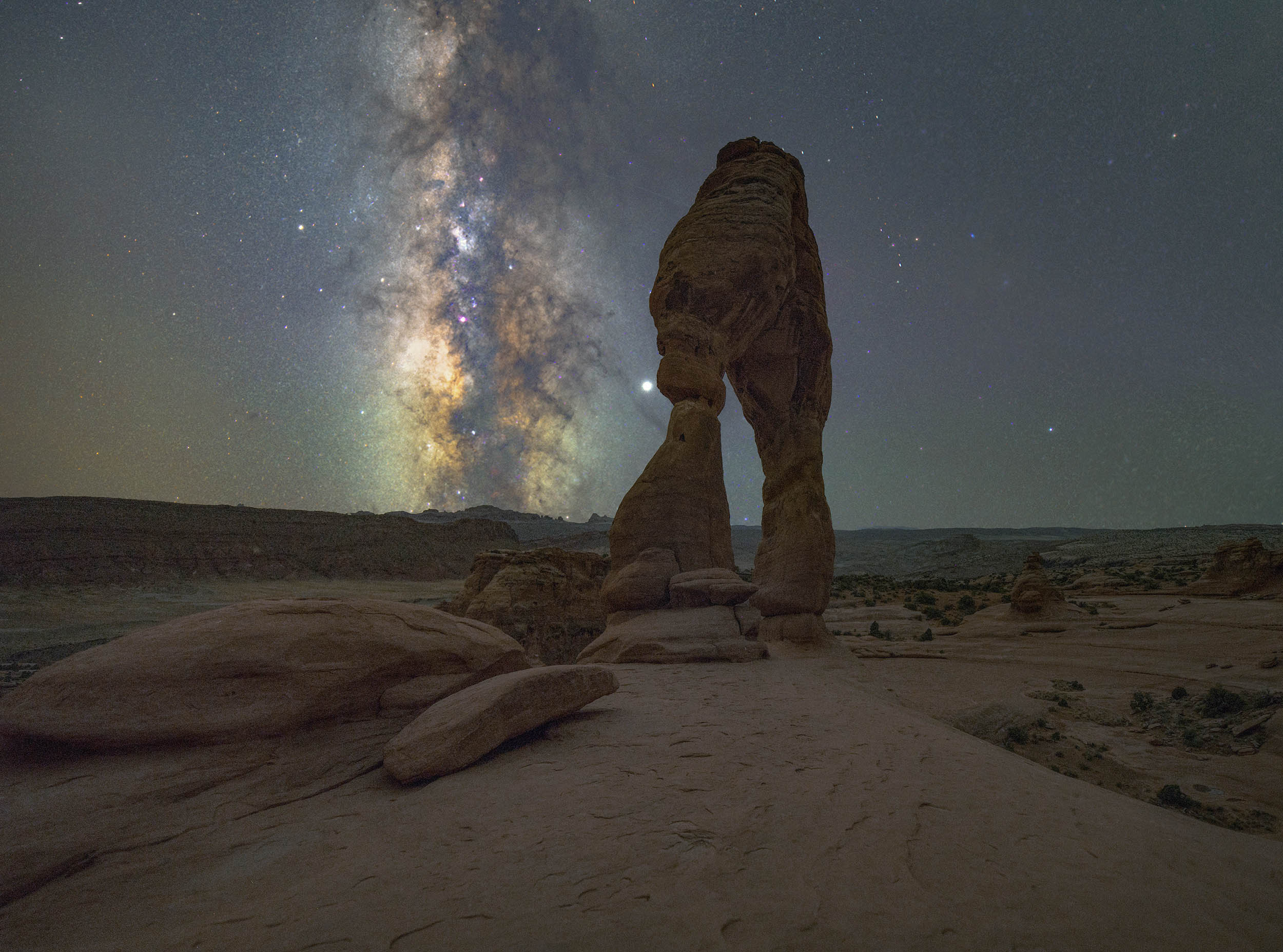 Delicate Arch Milky Way Print (Arches National Park, Moab, Utah Milky Way)