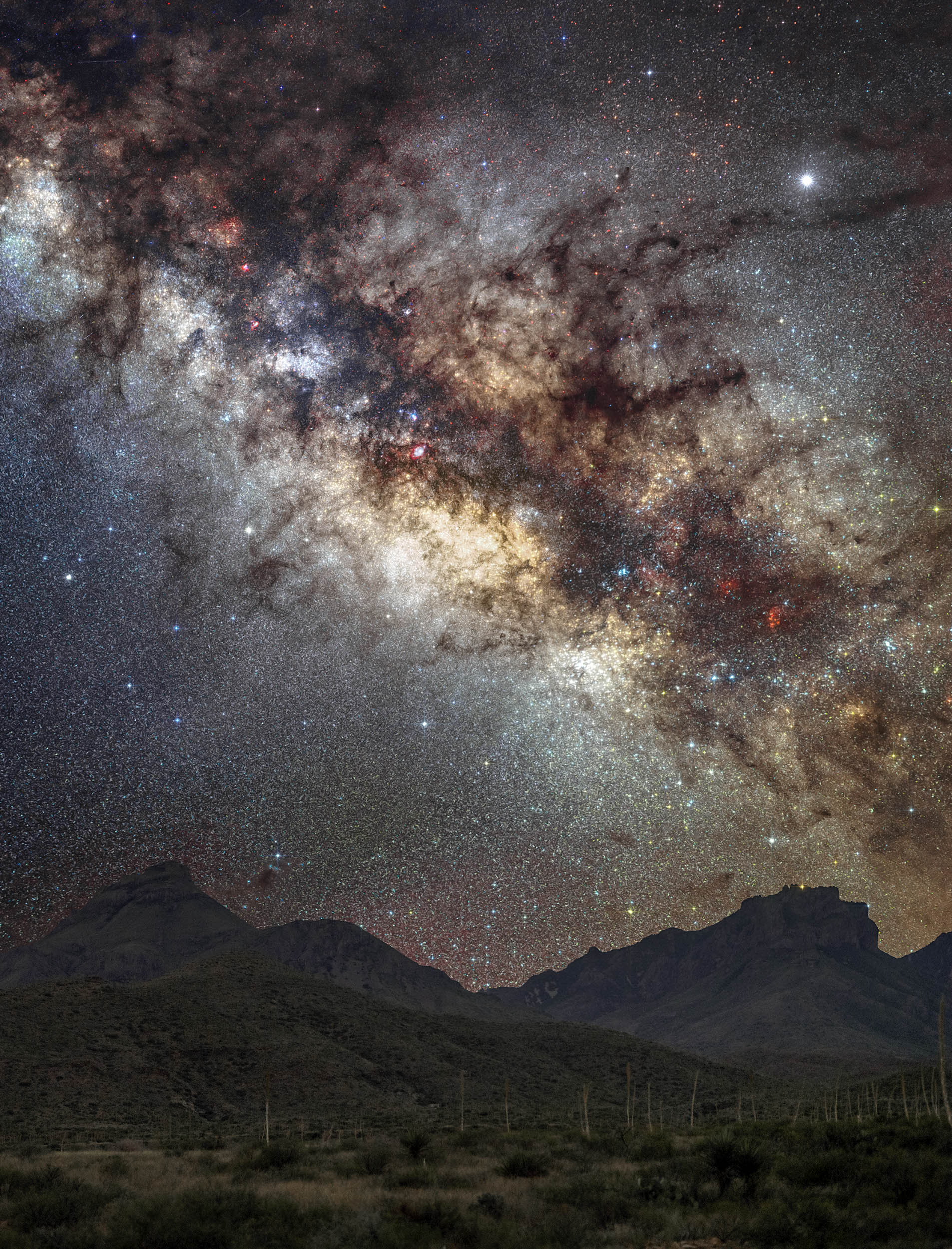Big Bend Forever Series Chisos Mountains Milky Way Print (Big Bend NP)