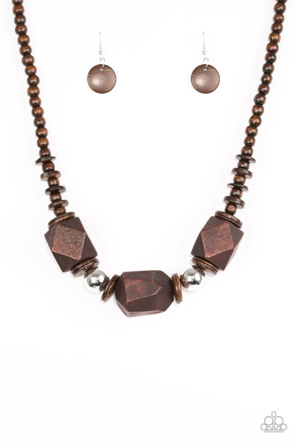 Costa Maya Majesty - Brown Necklace