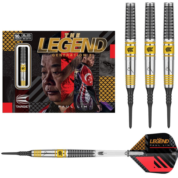 Paul Lim Gen 3 90% Tungsten Soft Tip Darts by Target