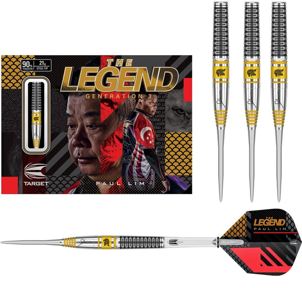 Paul Lim Gen 3 90% Tungsten Steel Tip Darts by Target