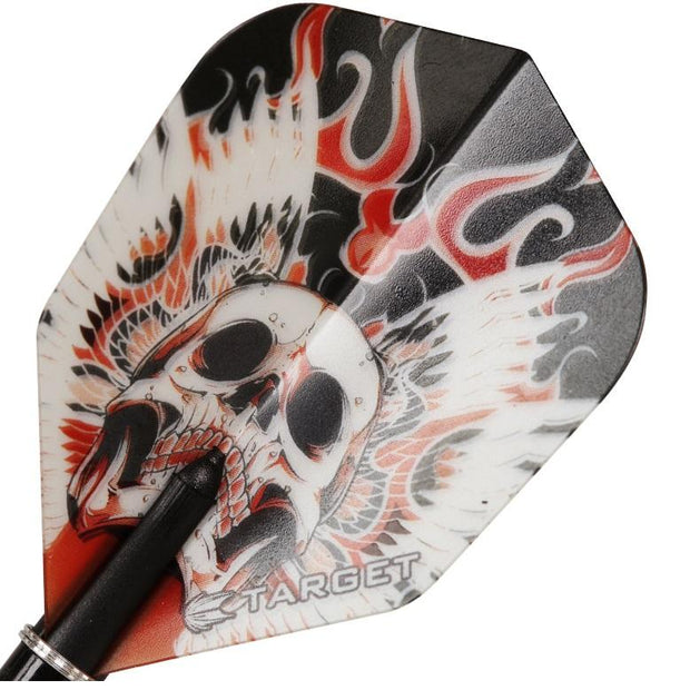 Target Pro 100 Vision Red Winged Skull Dart Flights