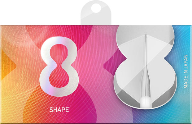 8 White No6 Shape Dart Flights