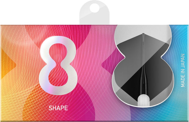 8 Black No6 Shape Dart Flights