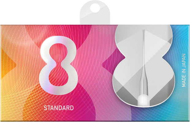8 White No2 Standard Dart Flights