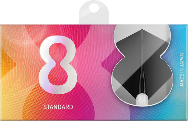 8 Black No2 Standard Dart Flights