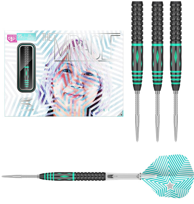 Mikuru Suzuki G2 Swiss Point 95% Tungsten Steel Tip Darts by Target