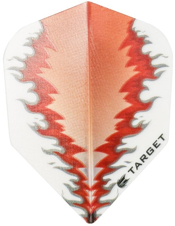 Target Pro 100 Vision White Red Fire Standard Shape Dart Flights