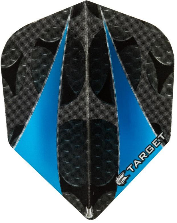 Target Pro 100 Vision Blue Twin Sail Standard Shape Dart Flights