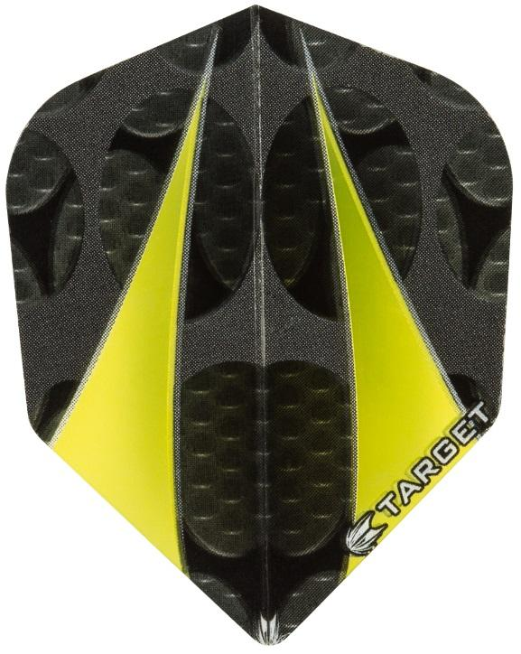 Target Pro 100 Vision Yellow Twin Sail Standard Shape Dart Flights