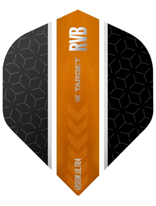 Raymond van Barneveld Ultra Vision No2 Black and Orange Stripe Dart Flights