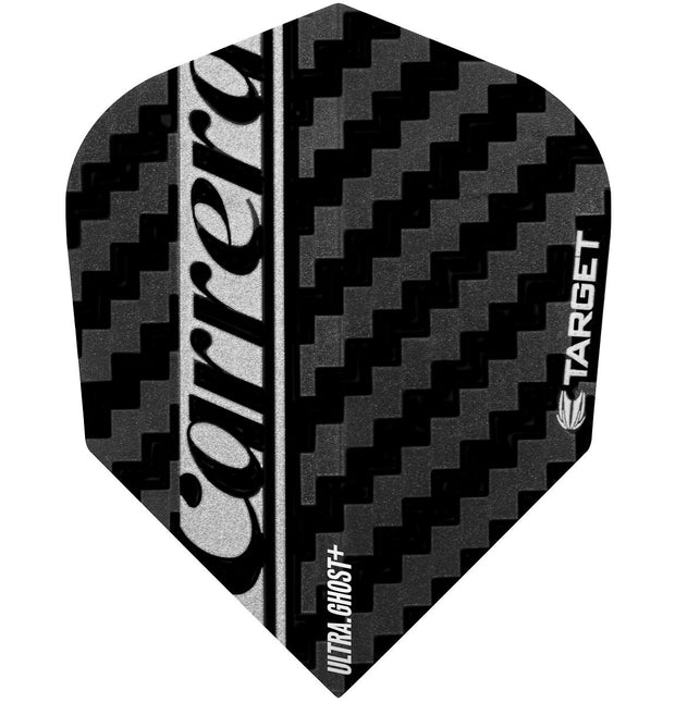 Target Silver Ultra Ghost No 6 Carrera Standard Dart Flights