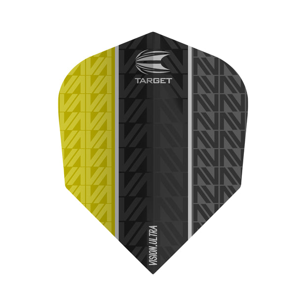 Vapor 8 Black Yellow Vision Ultra No6 Dart Flights by Target