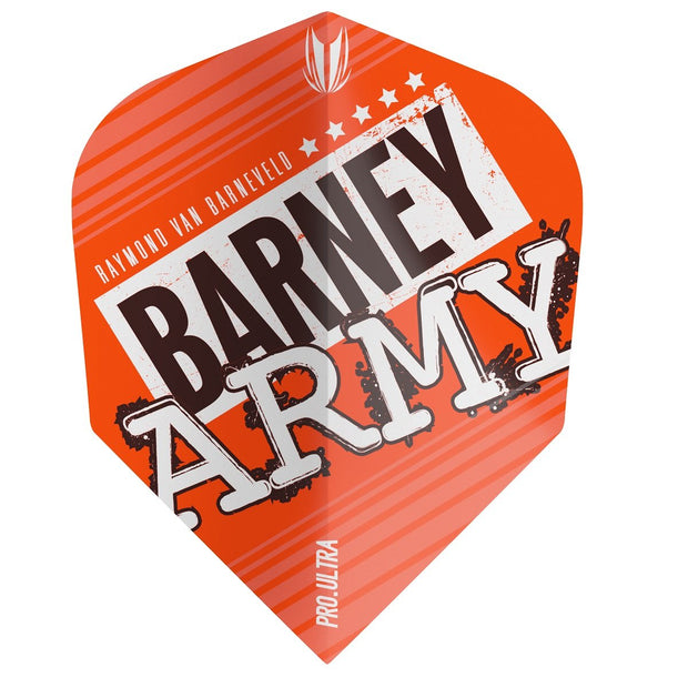 Raymond van Barneveld Barney Army No6 Pro 100 Ultra Dart Flights - Orange