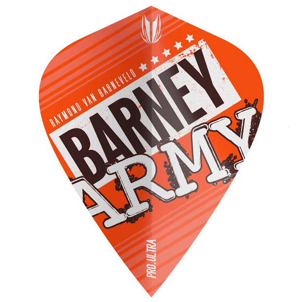 Raymond van Barneveld Barney Army Kite Pro 100 Ultra Dart Flights - Orange