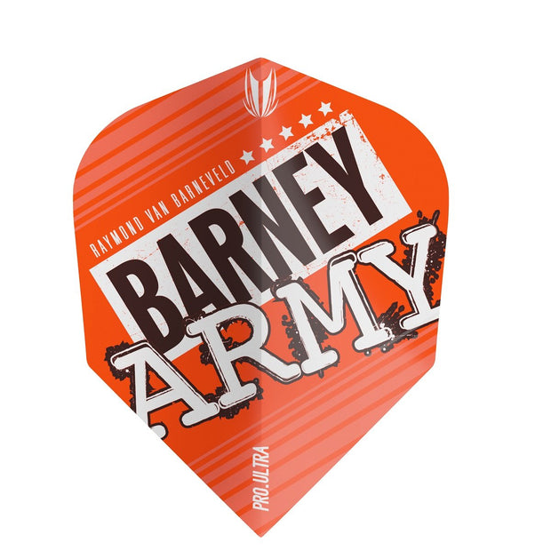 Raymond van Barneveld Barney Army TEN-X Pro 100 Ultra Dart Flights - Orange