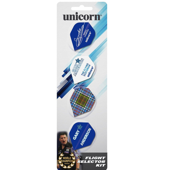 Unicorn Gary Anderson Authentic Flight Selector Kit Dart Flights