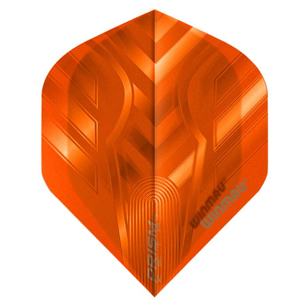 Winmau Prism Zeta Orange Translucent Dart Flights Standard